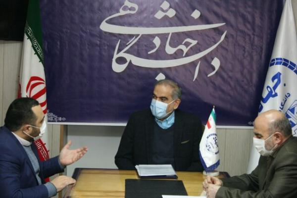 ملاقات رئیس جهاد دانشگاهی آذربایجان غربی با معاون هماهنگی امور مالی استاندار